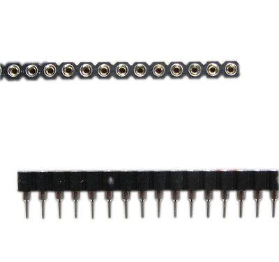 New 10pcs 40pin Strip Tin PCB Female IC Breakable Single Row Round Header Socket