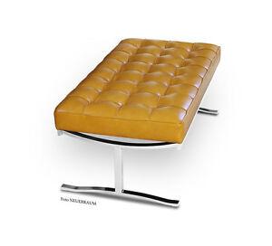 corto-ELEGANTE-Bauhaus-Cuero-banco-acero-inox-amp-natural-5-Leder-COLORES-posible