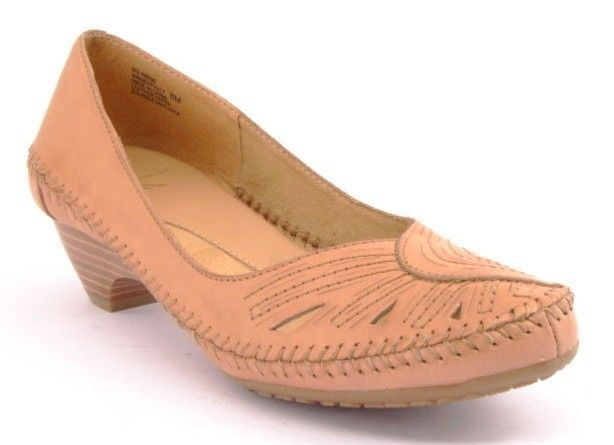 New New New WHITE MOUNTAIN Women Brown Leather Slip On Pump Loafer Comfort shoes Sz 8 M ced414