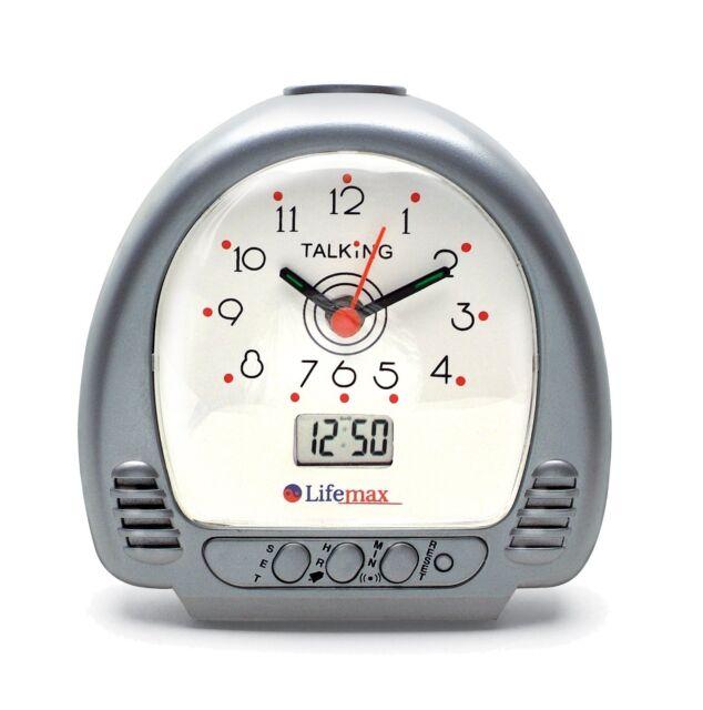 LifeMax Talking Alarm Clock Dual Analogue Digital Time Visually Impaired Voice