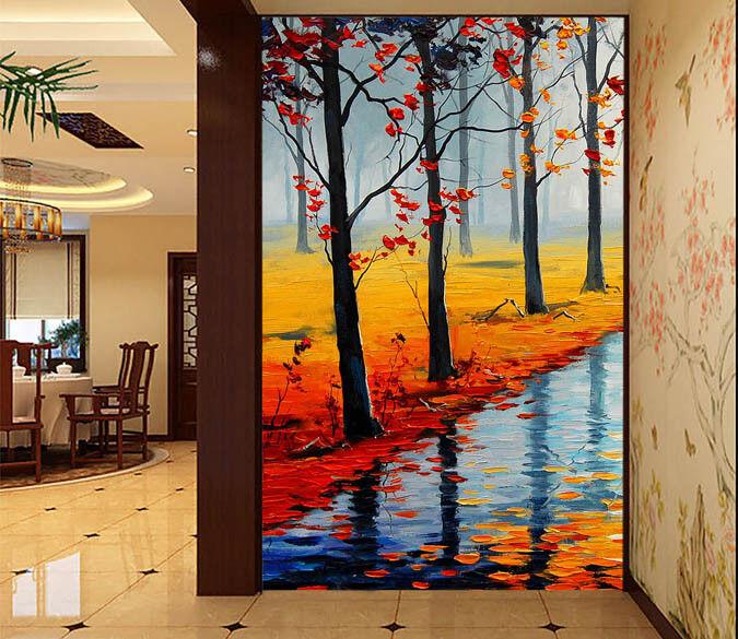 3D Schönen Nebliger Wald 73 Tapete Wandgemälde Tapete Tapeten Bild Familie DE