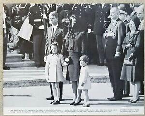 Details about 11x14 Jacqueline, John F Jr & Caroline Kennedy at Capitol  Rotunda, JFK's Funeral