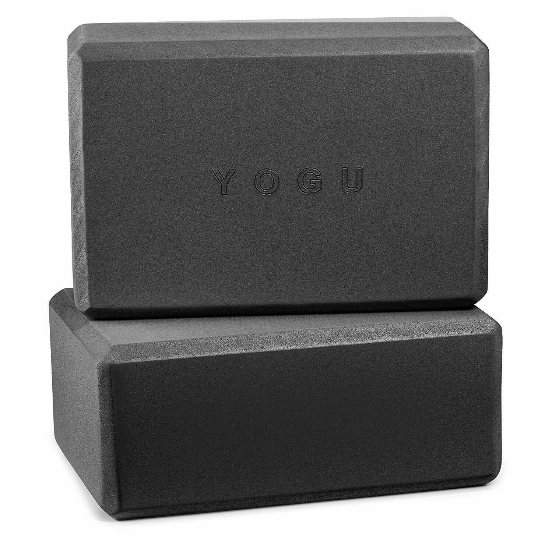 "YOGU Yoga Blocks Set of 2 EVA Foam Black 3"""