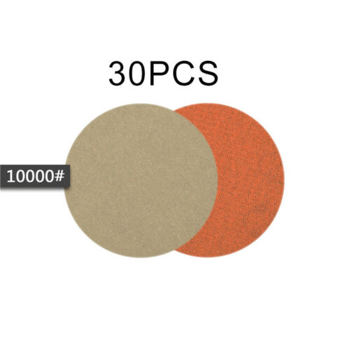 30PCS 3inch Wet Or Dry Sandpaper Hook And Loop Silicon Carbide Sanding//Discs
