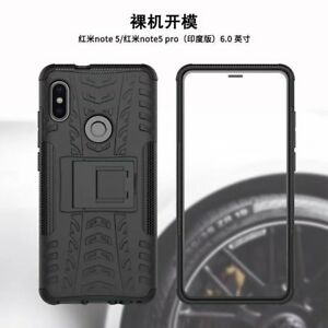 wholesale dealer 1ed83 4ff95 For Xiaomi Redmi Note 5 Pro Shockproof Hybrid Armor Brushed Rugged ...