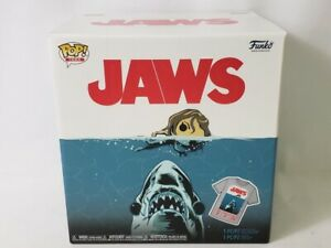 Funko-POP-Movies-Collectors-Box-JAWS-Great-White-Shark-POP-amp-Tee-Gray-Small