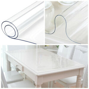 PVC-Clear-Rectangular-Table-Cover-Protector-Transparent-Tablecloth-Waterproof