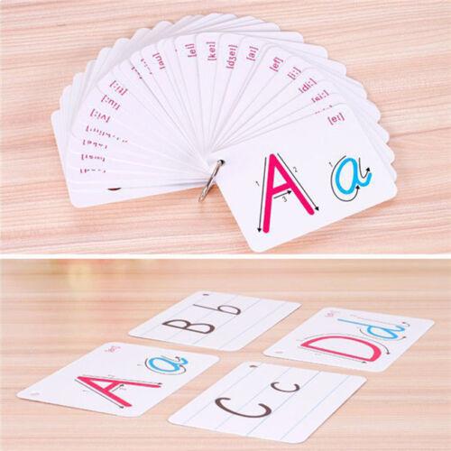 Preschool Kids Alphabet Flash Cards Learning Brighter Child Flashcards Set LH