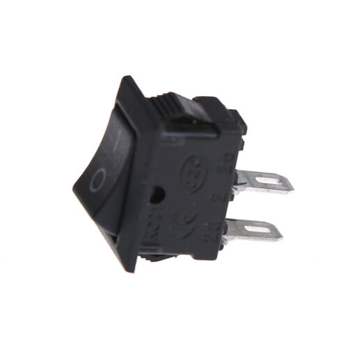 10x 10*15MM Small Black Rocker Switch KCD1-11 250VAC//3A 6A 125V AC 2P Switche~PL