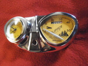 Bicycle-Speedometer-amp-Clock-Stewart-Warner-USA-Console-dashboard-Deluxe-Schwinn