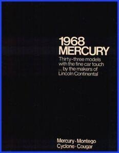 1968 Mercury Dlx Sales Brochure COUGAR Cyclone, NR MINT