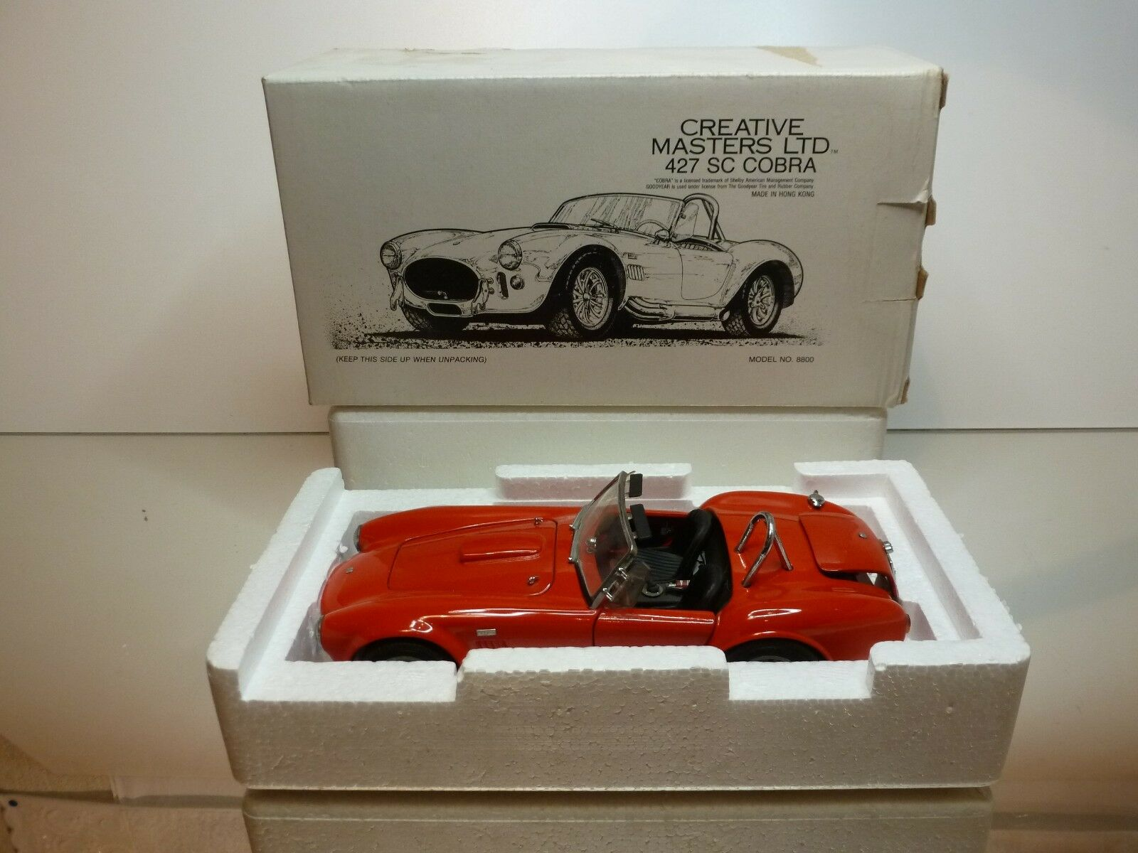 REVELL CREATIVE MASTERS 427 SC COBRA - RED 1 20 - GOOD CONDITION