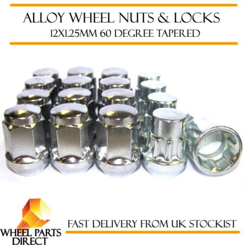 12+4 mk4 DADI DELLE RUOTE /& Locks 12x1.25 bulloni per NISSAN MICRA 10-16