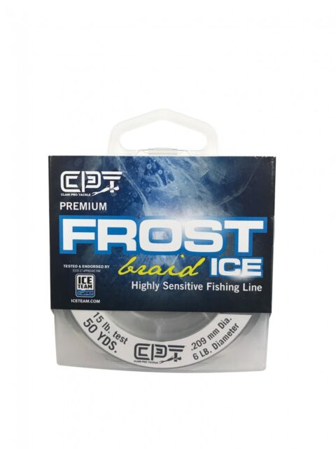Clam FROST ICE Monofilament Ice Fishing Line Clear 1 LB Test