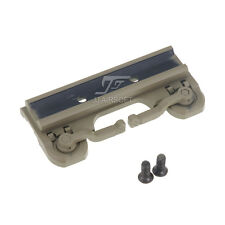 JJ Airsoft throw lever QD Mount for ACOG Scope&Red Dot Series (Tan)
