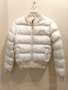 Guess Size Medium Ivory Winter Puffer Jacket Ebay