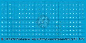 WWII German 1st SS Panzer Division Armband License Numbers Model Water Decal