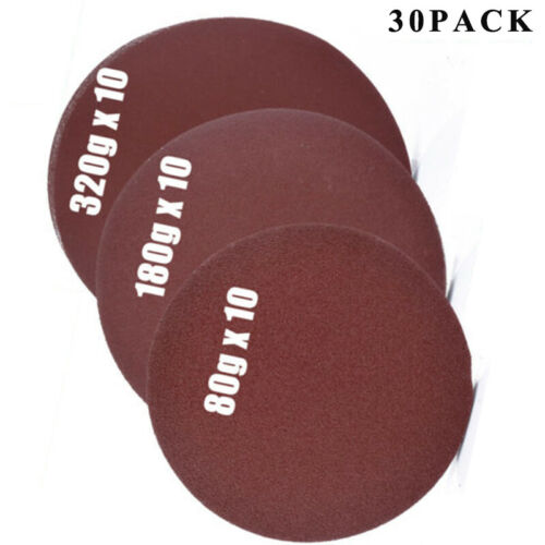 Pad Sandpapiers 6 150mm Selbstklebend 80//180//320 Körnungs Aufkleben Langlebig