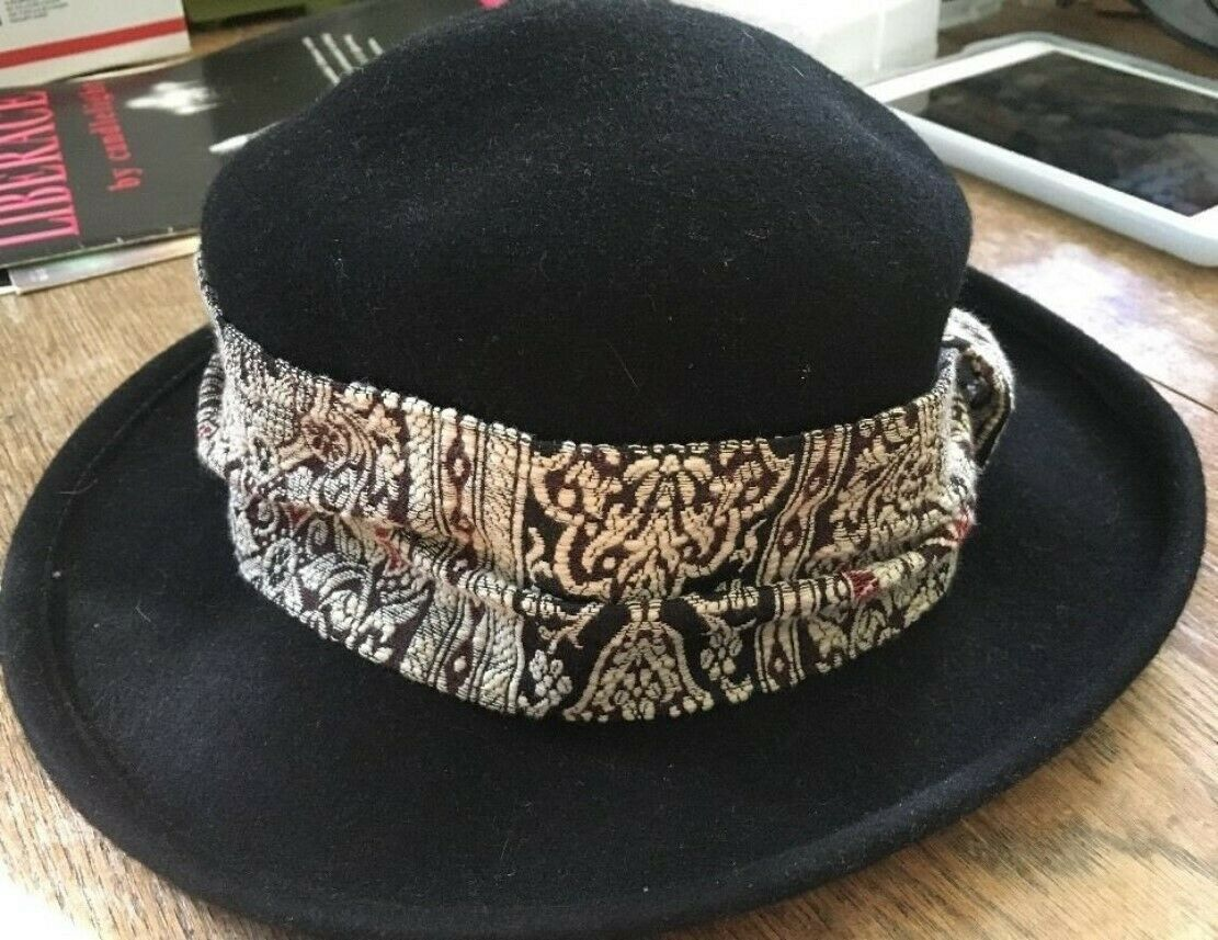 WOMAN'S WOOL HAT DANIELE MEUCCI MADE IN ITALY WO… - image 4