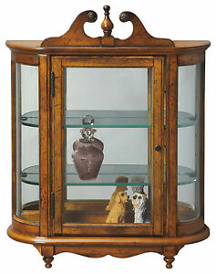 Details About Westbrook Wall Mounted Curio Cabinet Vintage Oak Finish Free Shipping