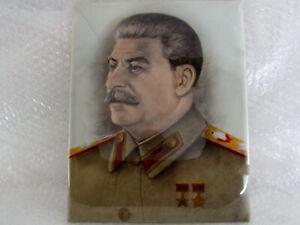 Joseph Stalin Generalissimo Soviet Leader Vintage Russia Handmade Photo Portrait