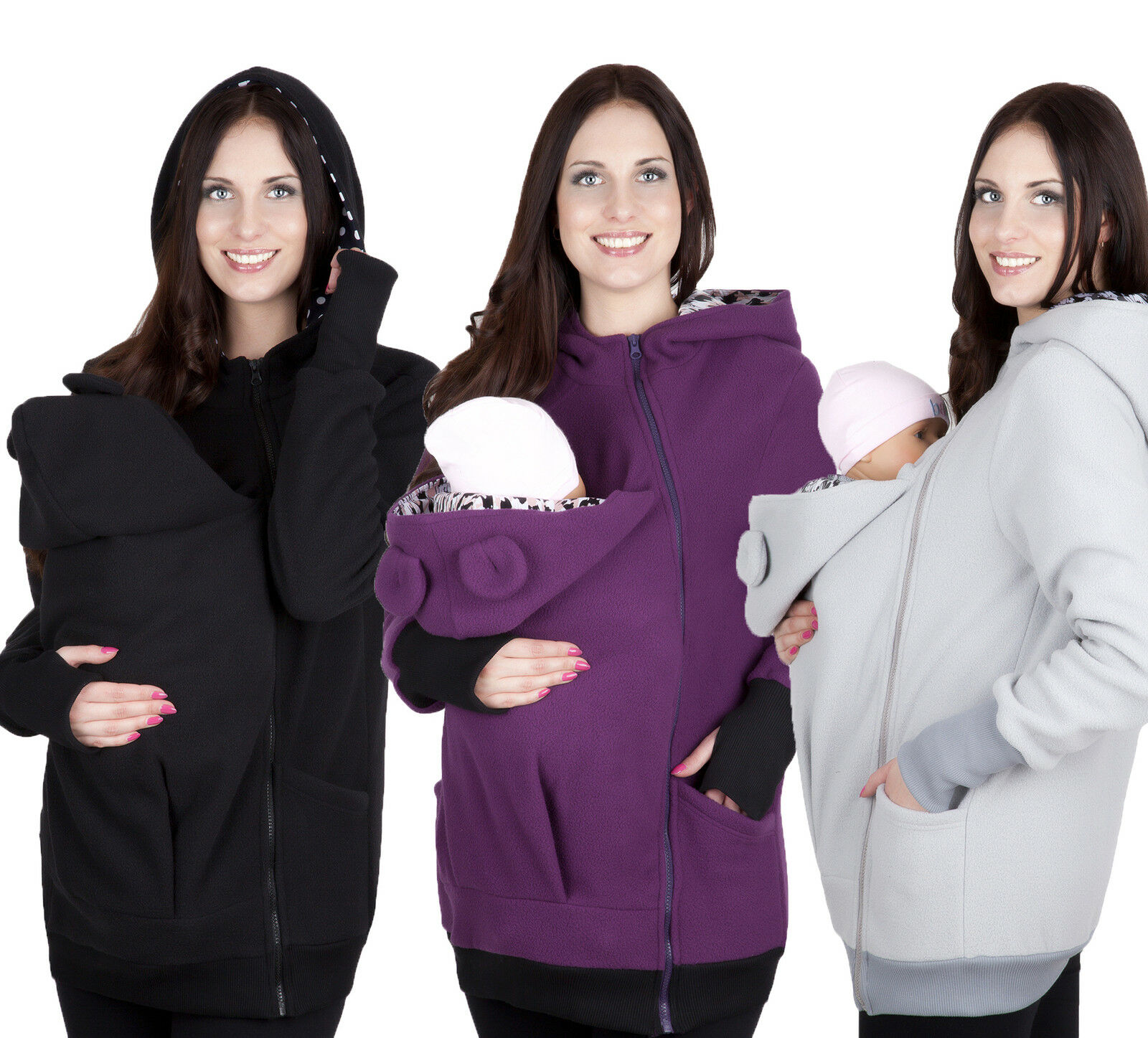 Maternity Nursing breastfeeding warm Hoodie Top 8 10 12 14 MIJA