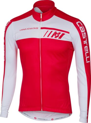 Castelli Velocissimo Men/'s Fleece Long Sleeve Cycling Jersey Red Small