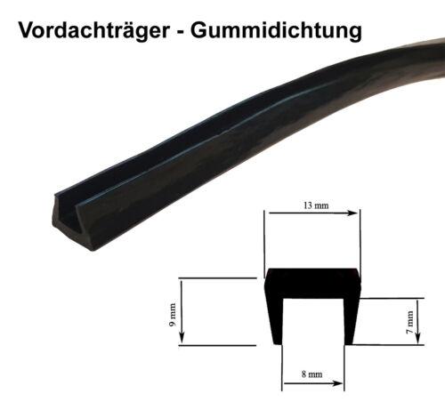 Gummidichtung für Vordach Vordachträger Vordachhalter Träger Glasablagegummi