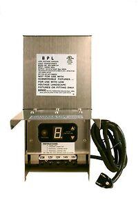 300-Watt-Stainless-Steel-Low-Voltage-Landscape-Transformer-LED-Bulb-compatible