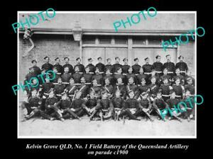 OLD-LARGE-HISTORIC-PHOTO-OF-KELVIN-GROVE-QLD-ARTILLERY-No-1-FIELD-BATTERY-1900