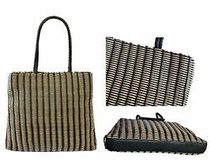 Borse I Bag.Falor Le Borse Italy Hand Woven Leather 2 Tone Braided Dual Handle Shoulder Bag Ebay
