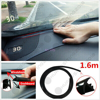 1.6m //5.25ft Car Windshield Dashboard Soundproof Anti-dust Sealing Strip Black