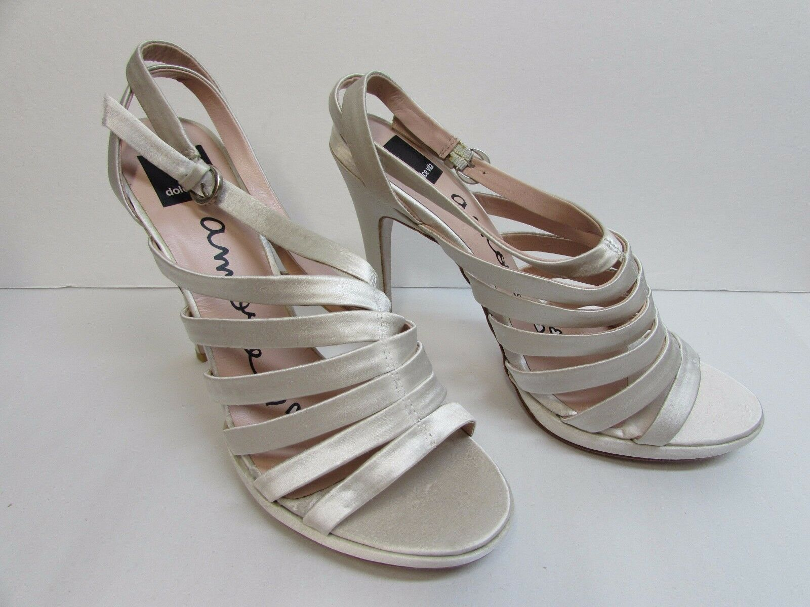 Dolce Vita Size 8.5 Ivory Satin Heels Heels Heels New Donna Shoes 70a51c