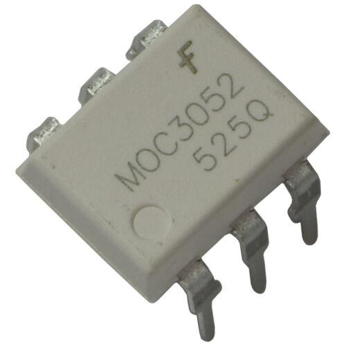 5 MOC3052 Fairchild Optokoppler 7,5kV 600V 10mA Triac-Driver-Output DIP-6 855744
