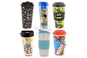 myfab travel cup thermal mug i love pugs pug marvel batman primark bnwt ebay. Black Bedroom Furniture Sets. Home Design Ideas