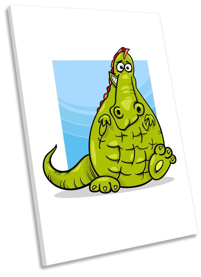 Crocodile Cartoon Kids Room Framed CANVAS WALL ART Picture Print