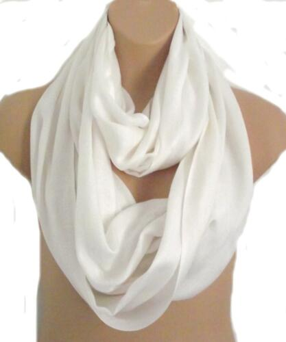 More Amazing colours!! Oversized White Circle Loop Wrap Scarf Snood  BNIP