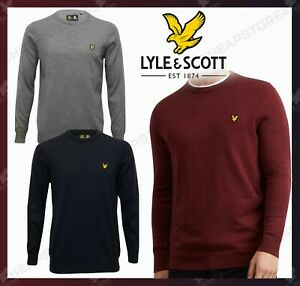 Lyle-and-Scott-Cotton-Merino-JUMPERS-Men-Crew-Neck-Long-Sleeves-Christmas-Gift