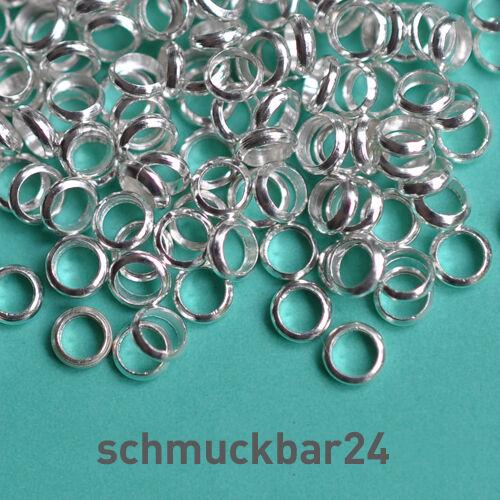 100 St// kleine 3,5x1mm Messing Perlen Spacer Ringe Gold- und Silber-Farben