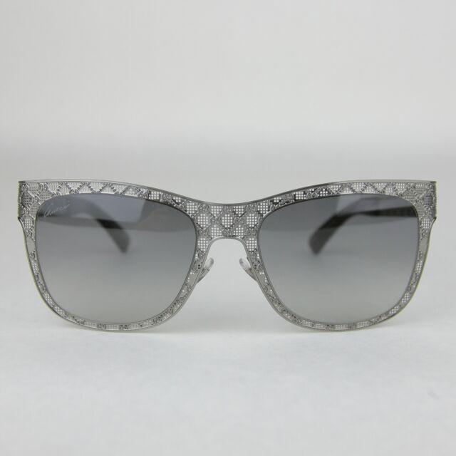 7f294a018 Gucci Black Metal Diamante Mesh Sunglasses GG 4266/S KJ1VK 375746 1175