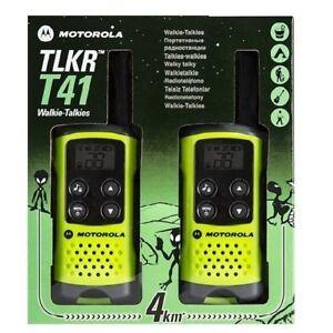 MOTOROLA-TLKR-T41-PMR446-LICENCE-FREE-WALKIE-TALKIES-GREEN-x-2