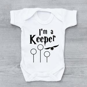 I/'m A Keeper Funny Harry Potter Unisex Baby Grow Bodysuit