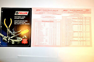 FULLER THE FINEST NAME IN HAND TOOLS CATALOG 1976 & Price Lists #RR474