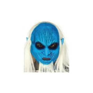 Bleu-Glace-Chevalier-King-Game-Of-Thrones-Complet-Tete-Masque-Latex-Cheveux