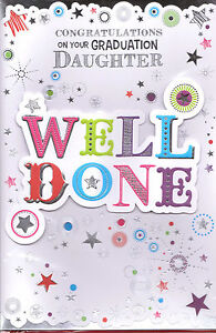 image is loading congratulations on your graduation daughter card well done