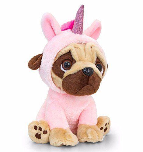 Keel Toys Pugsley 14cm Unicorn Pug Dog 2 Designs Cuddly Soft Toy Teddy SD1232