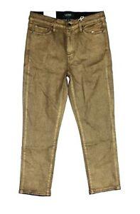 Lauren-by-Ralph-Lauren-Women-Jeans-Gold-Size-4P-Petite-Straight-Stretch-115-119