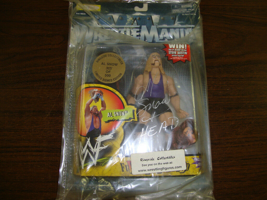 Al Snow & Head Wrestlemania Autographed Figurine 1998---Limited Edition 355/500