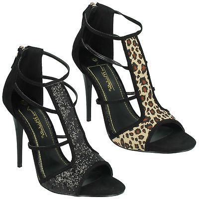 Ladies Anne Michelle Open Toe T-Bar /'Heels/'