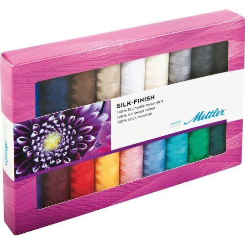 Mettler Acabado De Seda Surtido paquete de hilo de acolchar colorido 18 X 150 M CARRETES
